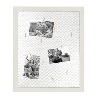 DesignOvation Beatrice Framed Wire Collage, with 12 Mini Clothespins