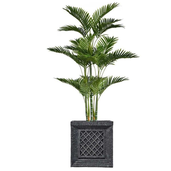 "81"" Tall Palm Tree with Burlap Kit and Fiberstone planter"