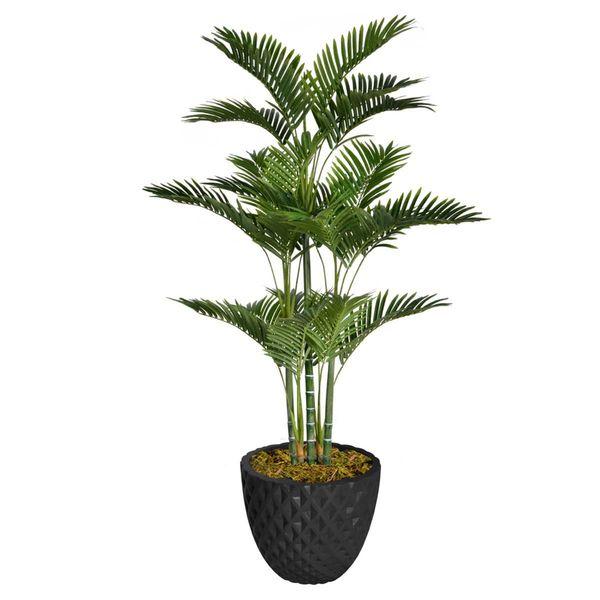"66"" Tall Palm Tree with Burlap Kit and Fiberstone planter"