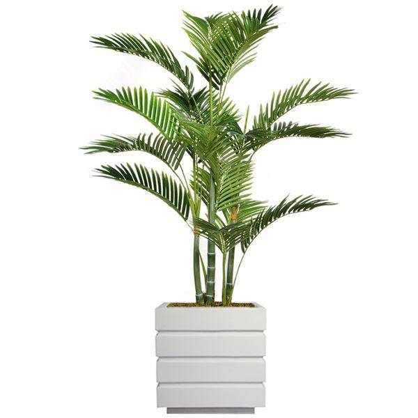 "61.5"" Tall Palm Tree with Burlap Kit and Fiberstone planter"