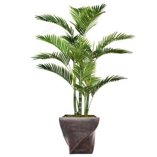 "52.8"" Tall Palm Tree with Burlap Kit and Fiberstone planter"