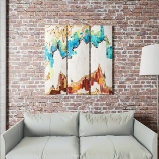 """Yosemite Home Décor """"Third Generation"""" Hand-Painted Wall Art"""