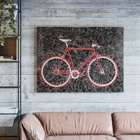 """Yosemite Home Décor """"City Cycling"""" Hand-Painted Wall Art - multi"""
