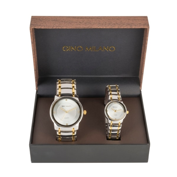 His And Hers Watch Sets >> Gino Milano His Her Watch Gift Sets