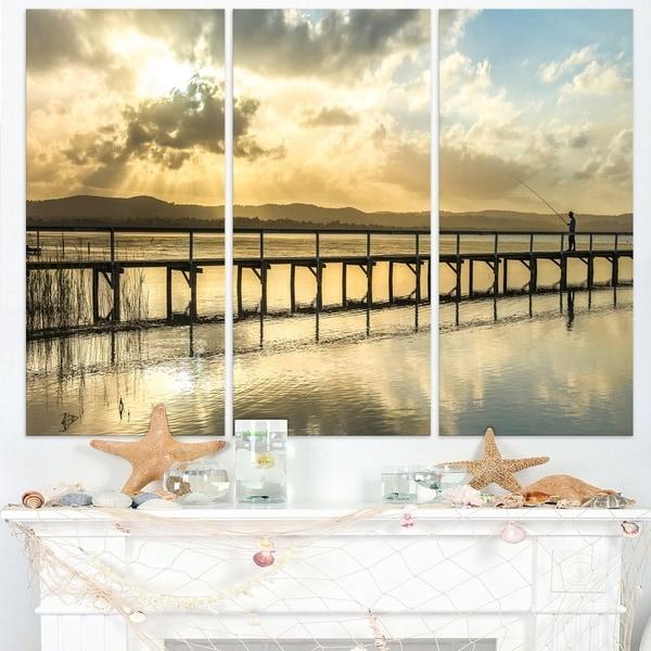 Long Jetty Foreshore Reserve Panorama - Sea Bridge Canvas Wall ...