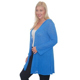 Hot Ginger Women's Plus Size Drape Front Cardigan With Hood