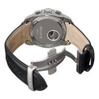 Tissot Men's T035.627.16.051.00 'Couturier' Black Dial Black Leather Strap Chronograph Swiss Quartz Watch