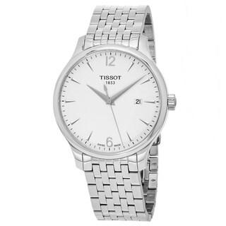 Tissot Men's T063.610.11.037.00 'Tradition' Silver Dial Stainless Steel Swiss Quartz Watch