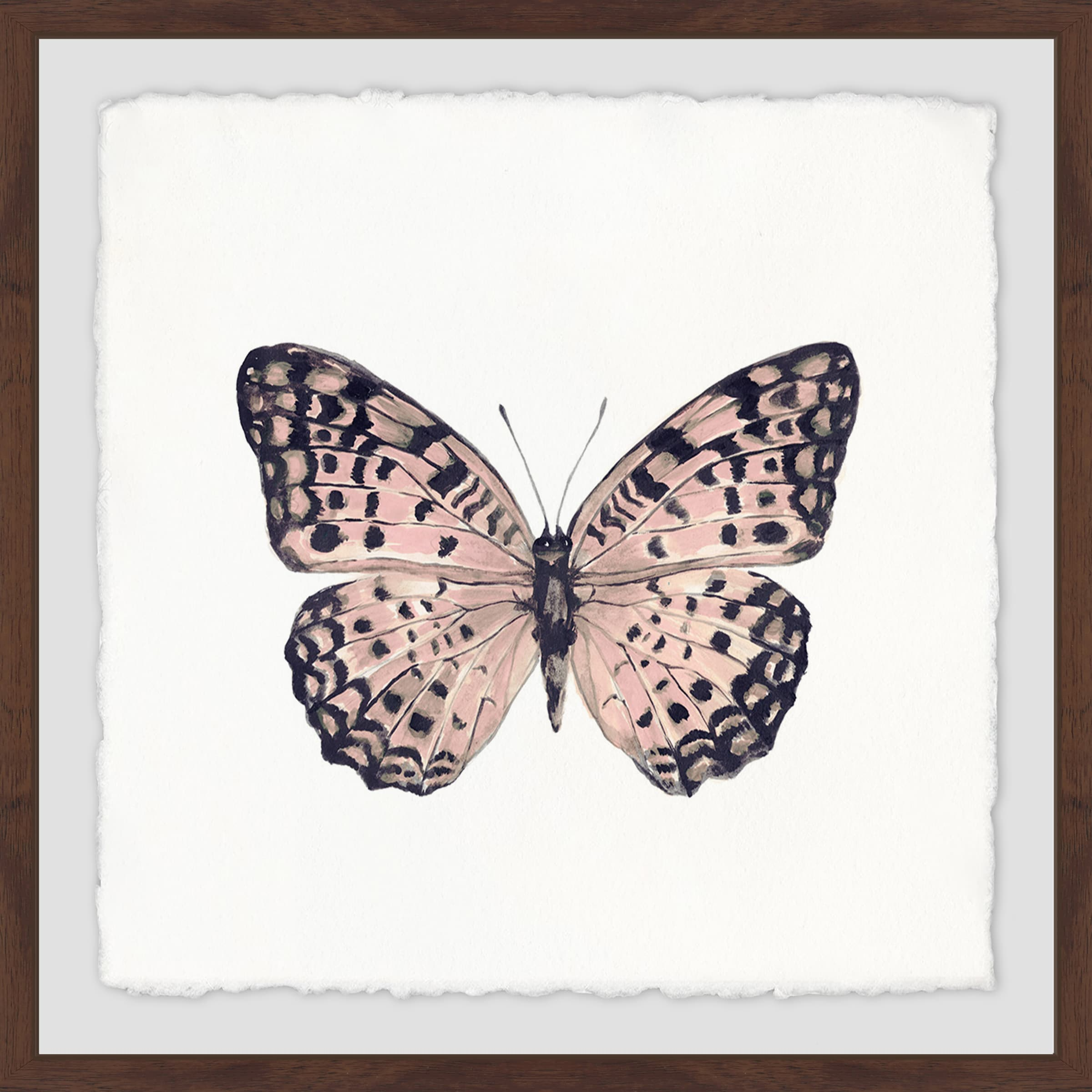 Shop Marmont Hill Handmade Pink And Black Butterfly Framed Print