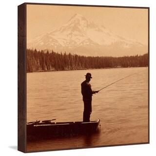 Marmont Hill - Handmade Mt. Hood Floater Framed Print on Canvas