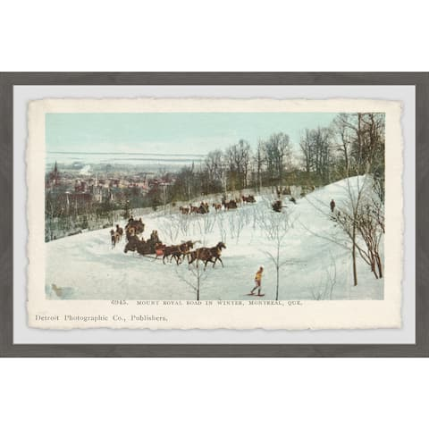 Marmont Hill - Handmade Mt. Royal Road in Winter Framed Print
