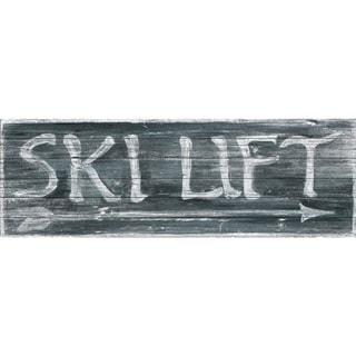 Marmont Hill - Handmade Ski Lift Painting Print on White Wood