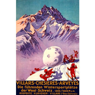 'Villars' Painting Print on Wrapped Canvas