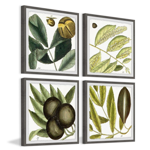 Marmont Hill - Handmade Green Catkins Quadriptych - Multi-color. Opens flyout.