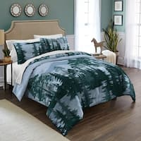 Destinations Spruce Trees Cotton 3-piece Comforter Set