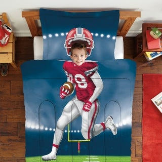 Dream Big Football Player Twin/Full-size 2-piece Comforter Set