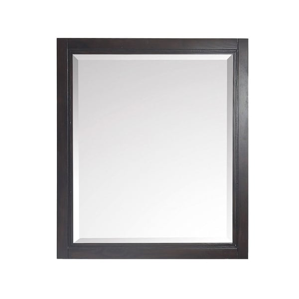"Avanity Hepburn 28 in. Wall Mirror - Dark Chocolate - Dark Charcolate - 28""W x 32""H"