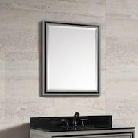 "Avanity Dexter 30 in. Wall Mirror - Rustic Gray - Rustic Gray - 30""W x 34""H"