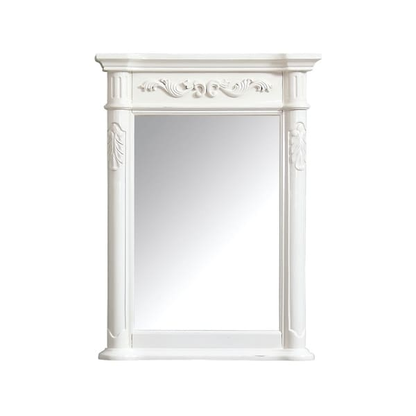 "Avanity Provence 24 in. Wall Mirror - Antique White - Antique White - 24""W x 33""H"