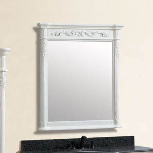 "Avanity Provence 36 in. Wall Mirror - Antique White - Antique White - 36""W x 40""H"