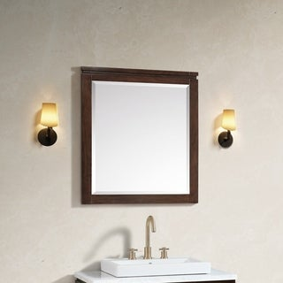 Avanity Giselle 29 in. Mirror in Natural Walnut
