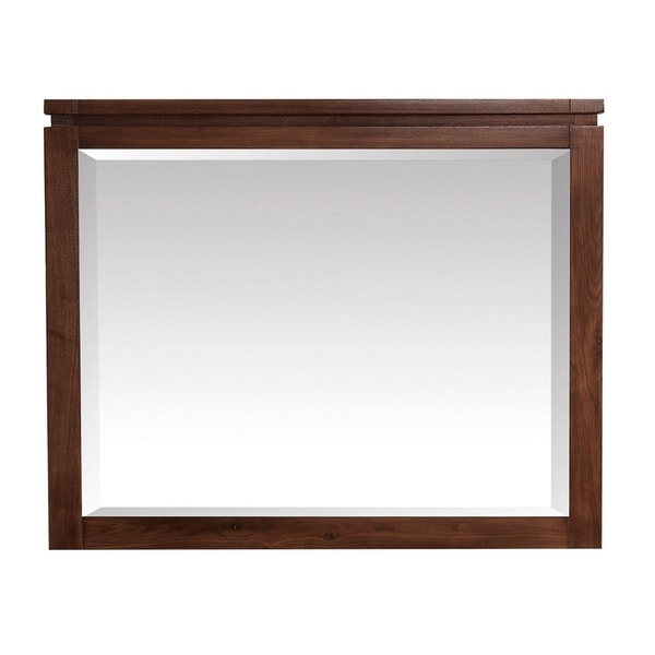 """Avanity Giselle 38 in. Wall Mirror - Natural Walnut - Natural walnut - 38""""W x 30""""H"""