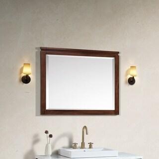 Avanity Giselle 38 in. Mirror in Natural Walnut