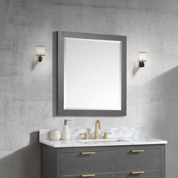 "Avanity 28 in. Allie / Austen Wall Mirror - Twilight Gray - 28""W x 32""H"