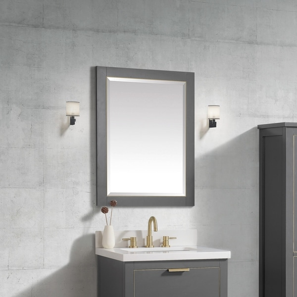 "Avanity 24 in. Allie / Austen Mirror - Twilight Gray - 24""W x 32""H"