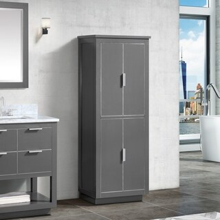 Avanity 24 in. Linen Tower for Allie / Austen in Twilight Gray with Matte Gold or Brushed Silver Trim