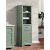 "Avanity Colton 22 in. Linen Tower in Basil Green - 22""W x 65""H"