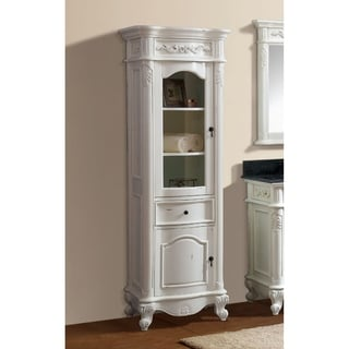 "Avanity Provence 24 in. Linen Tower in Antique White finish - 24""W x 72""H"