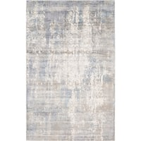 Allure Handmade Vintage Abstract Grey Blue Viscose Rug - 8' x10'