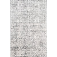Allure Handmade Vintage Grey Ivory Distressed Viscose Rug - 8' x10'