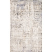 Allure Handmade Vintage Abstract Grey Yellow Viscose Rug - 8' x10'