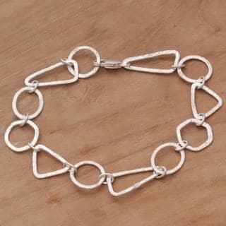 Handmade Sterling Silver 'Modern Simplicity' Bracelet (Indonesia)