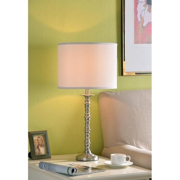 "Design Craft Stella 27.25"" Brushed Steel Table Lamp"