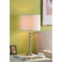 "Design Craft Stella 27.25"" Brushed Steel Table Lamp"