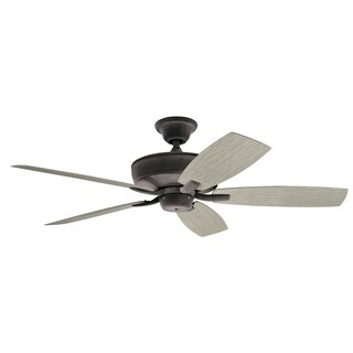 Kichler Lighting Monarch II Patio Collection 52-inch Weathered Zinc Ceiling Fan