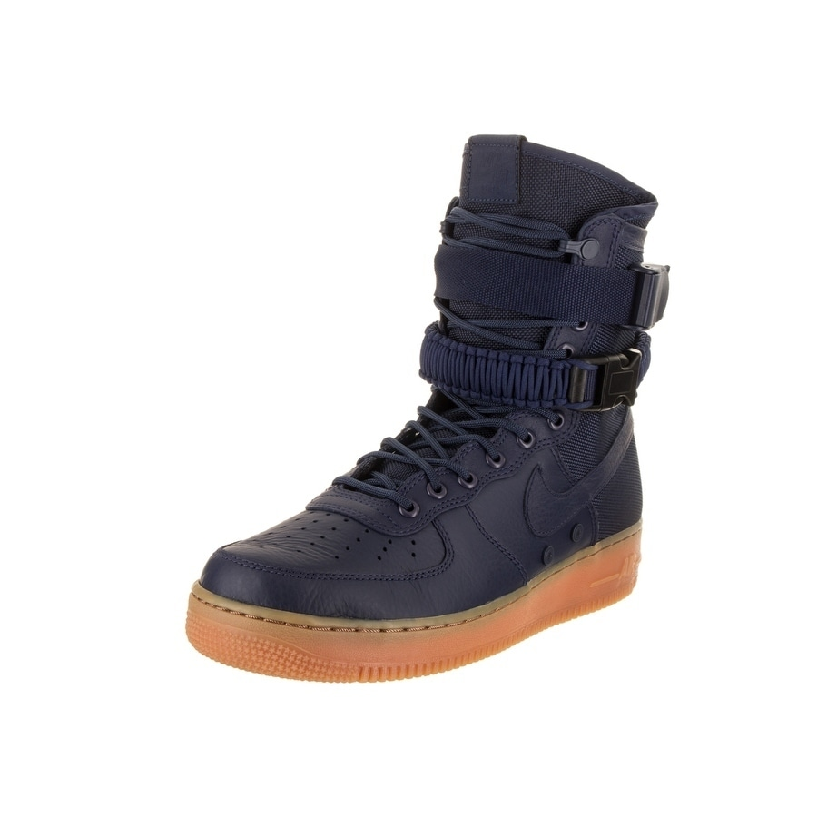 Nike Men's SF AF1 Casual Shoe (9.5), Blue (leather)