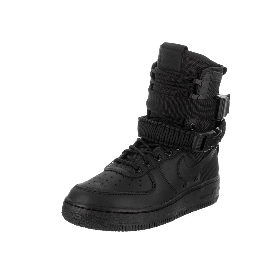 Nike Women's SF AF1 Casual Shoe (10), Black (leather)