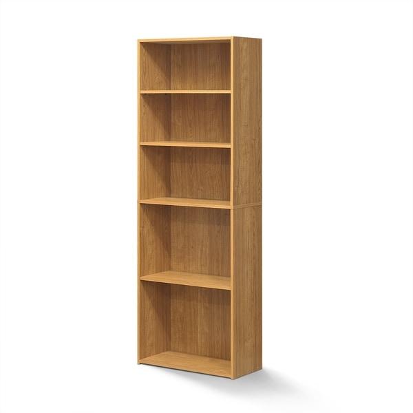 Porch & Den Groveland Soft White 5-shelf Bookcase