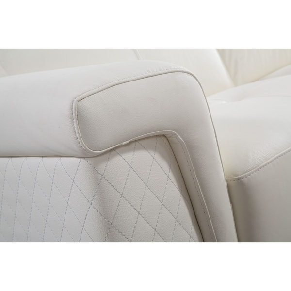 Shop Oversized White Italian Leather Sectional Sofa - Free ...