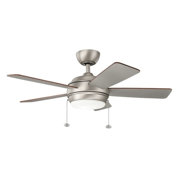 Kichler Lighting Starkk Collection 42 Inch Brushed Nickel Led Ceiling Fan