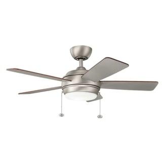 Kichler Lighting Starkk Collection 42-inch Brushed Nickel LED Ceiling Fan