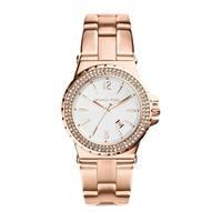Michael Kors Women's  Jetset White Dial Rose Gold Stainless Steel Bracelet Watch
