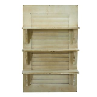 "31.75"" Vintage Window Shutter Shelving Wall Decor"