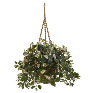 Hoya Artificial Plant Hanging Basket
