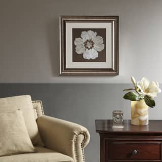 Harbor House Floral Brown Decorative Embroidery Wall Art Flower