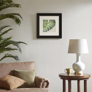 Harbor House Tropical Leaf Green Decorative Embroidery Wall Art Botanical